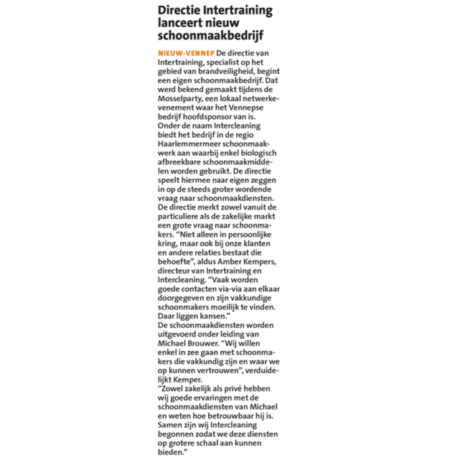 HC Nieuws Intercleaning